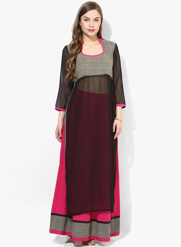 Unique style to wear kurti: Kurti with skirt