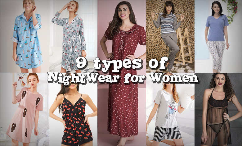 Different Types of Ladies Nightwear