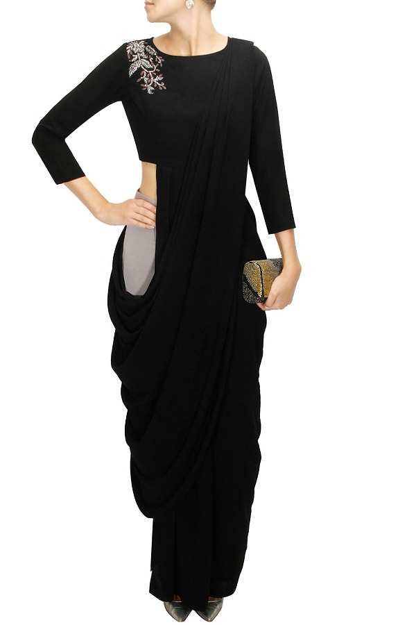 black-sari-with-embroidered-blouse-and-palazzo-pants-by-bhaavya