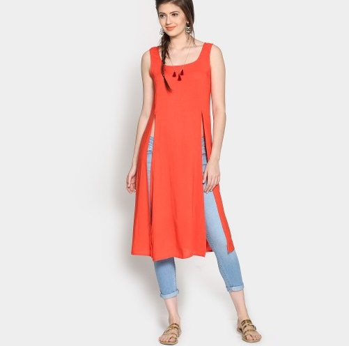 Kurti With Jeans- Sassy Western Look