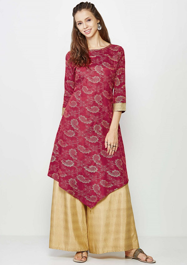 Pair Kurti with Palazzo Pant is new trending style