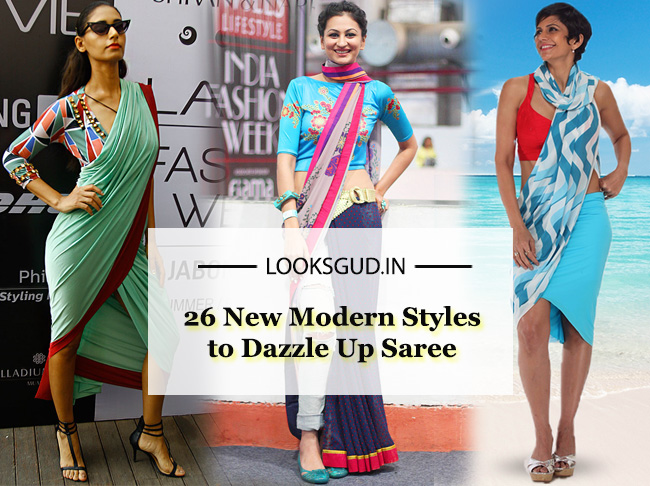 ab43be5bd936d If you are someone who loves experimenting with new styles then you have  come to the right place. Forget the draping of traditional saree and  indulge in the ...