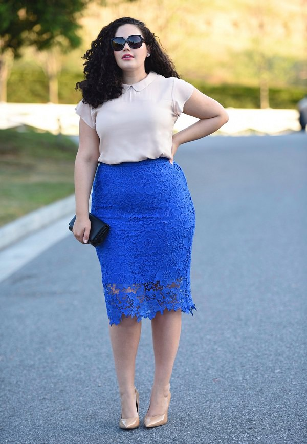 684acf90416d tricks on how to wear pencil skirt for plus size women to look thinner