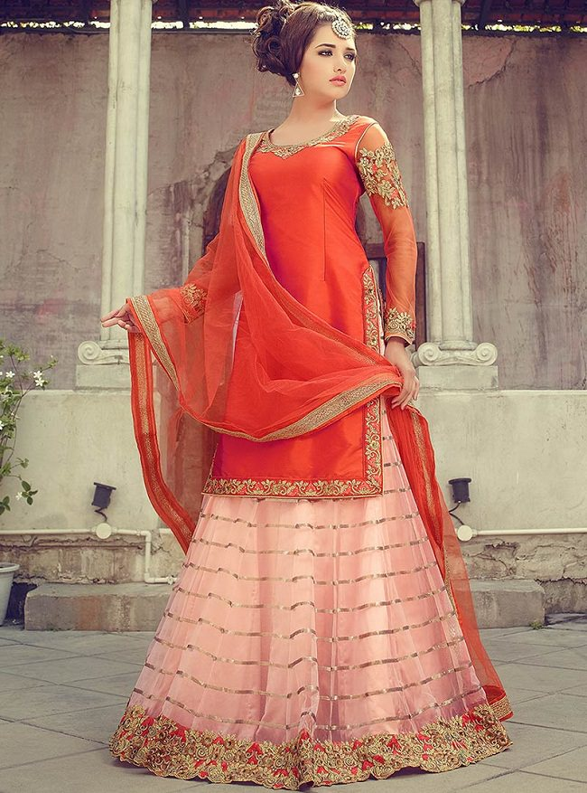 long lehenga choli, punjabi wide legged pants, latest trends in punjabi suits