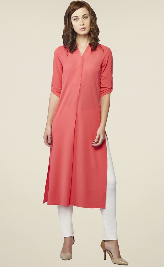 rolled-up-sleeve-kurta-with-straight-fit-pants