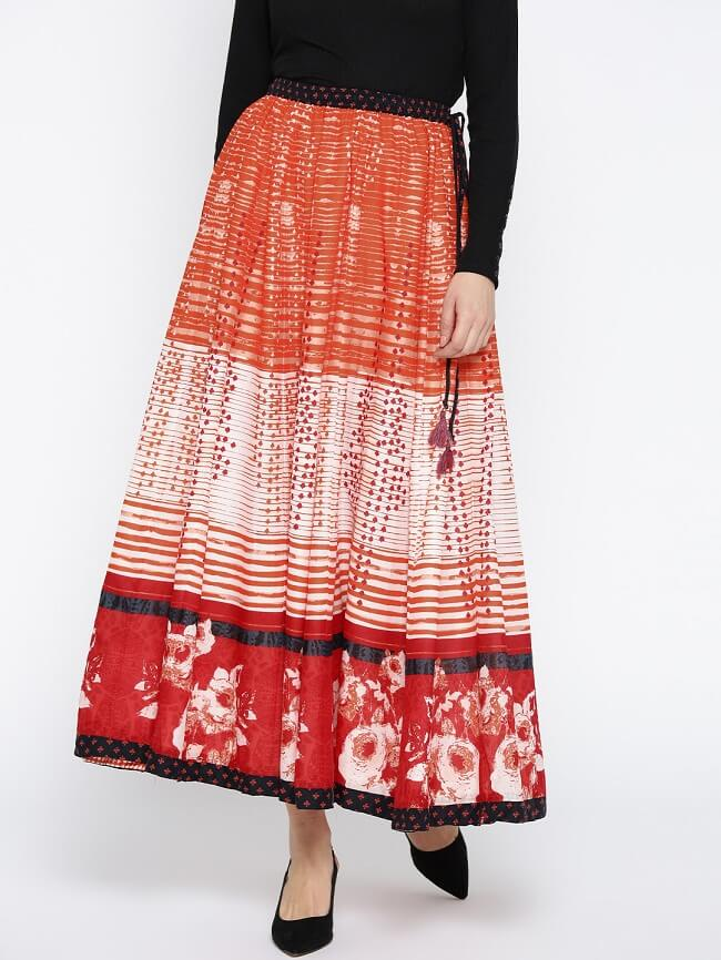ethnic short tops for long skirts