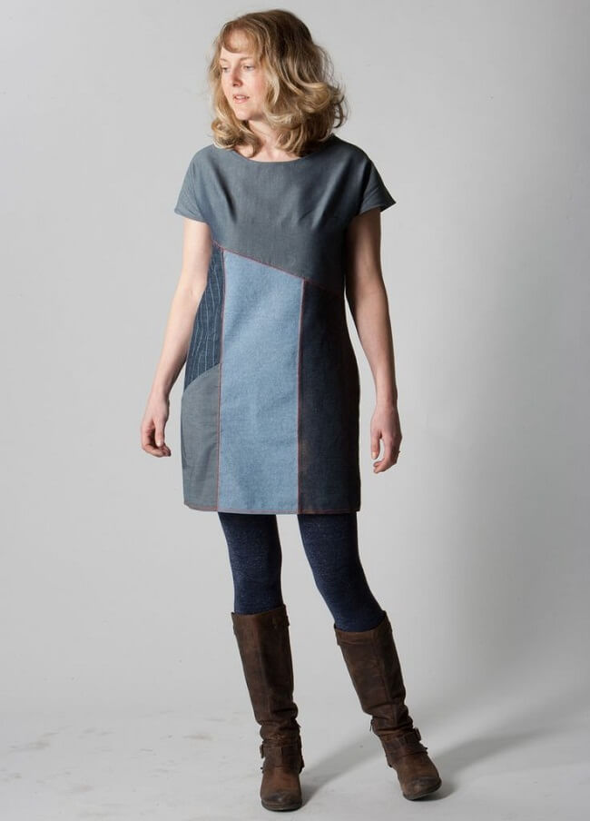 new design of color block kurti with jeans