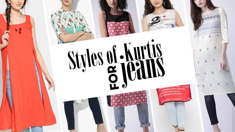 5847e71a83a Buying Designer Kurtis for Jeans  Best Designs are Just Click-Away ...