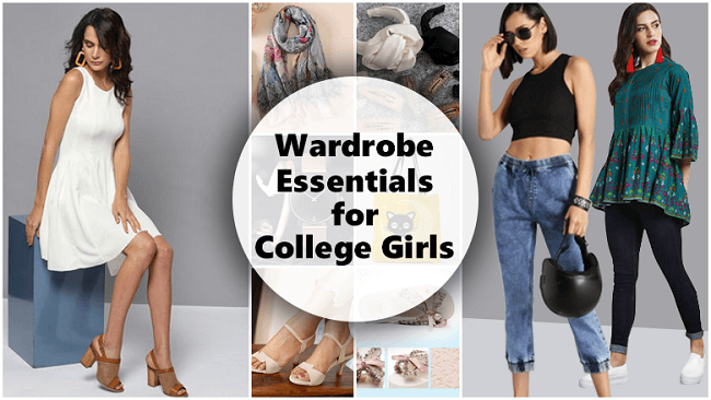 wardrobe essentials for collage girls