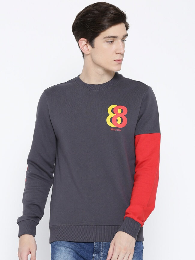 sweatshirts for men online myntra