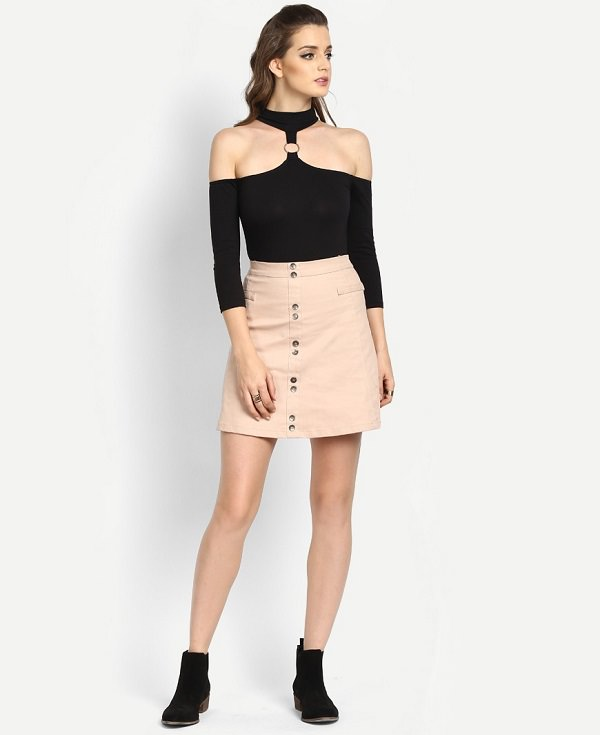 what to wear with a black bodysuit with skirt