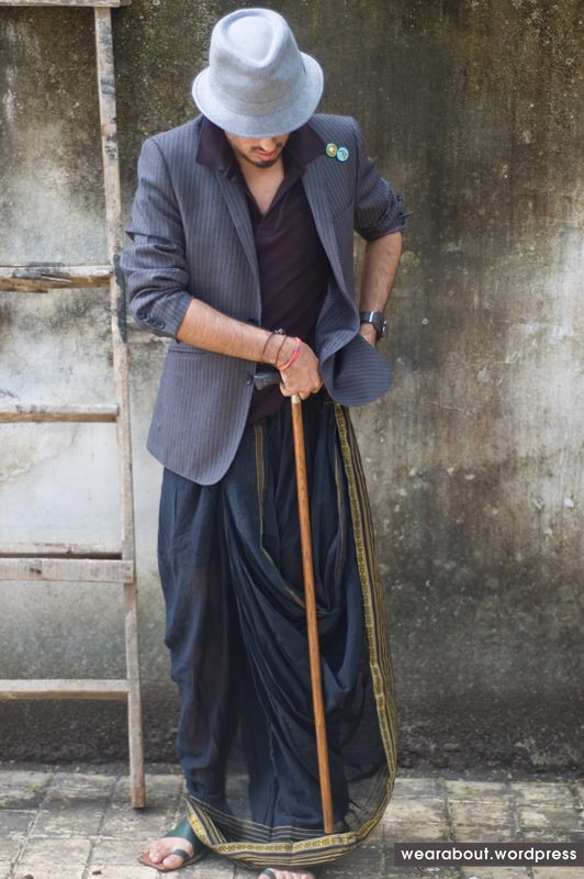 Dhoti with Blazer and Cap