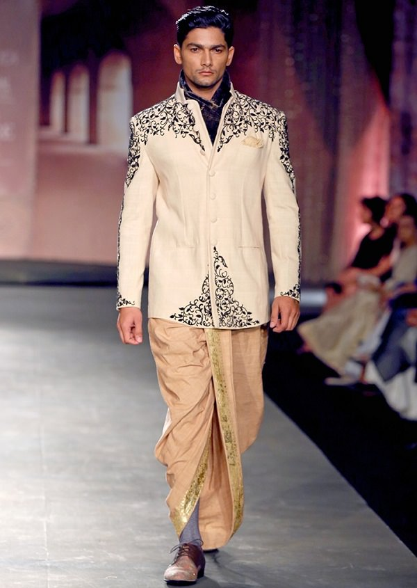 Dhoti with Jacket and Scarf