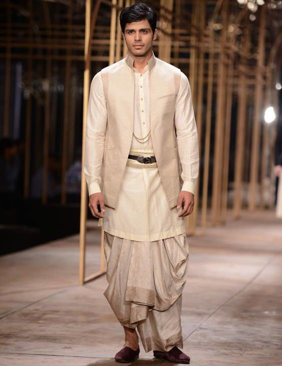 Dhoti with Kurta and a Nehru Jacket