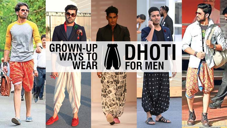 Ways to wear dhoti for men