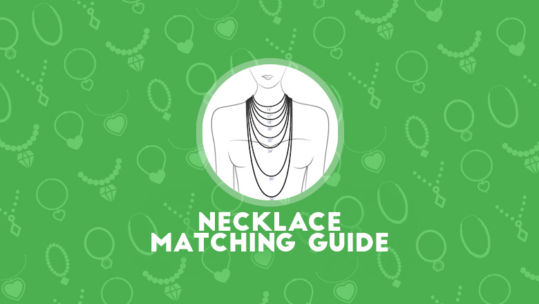 how to wear right necklaces with different necklines of dresses,necklace neckline cheat sheet