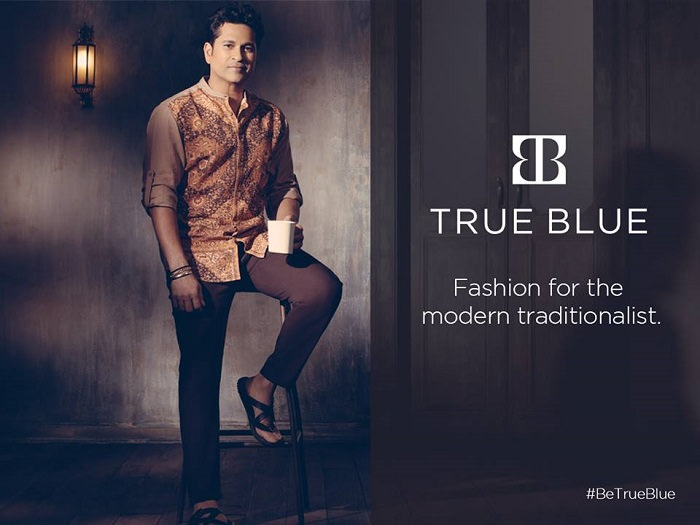 Sachin Tendulkar true blue brand clothing online shopping india