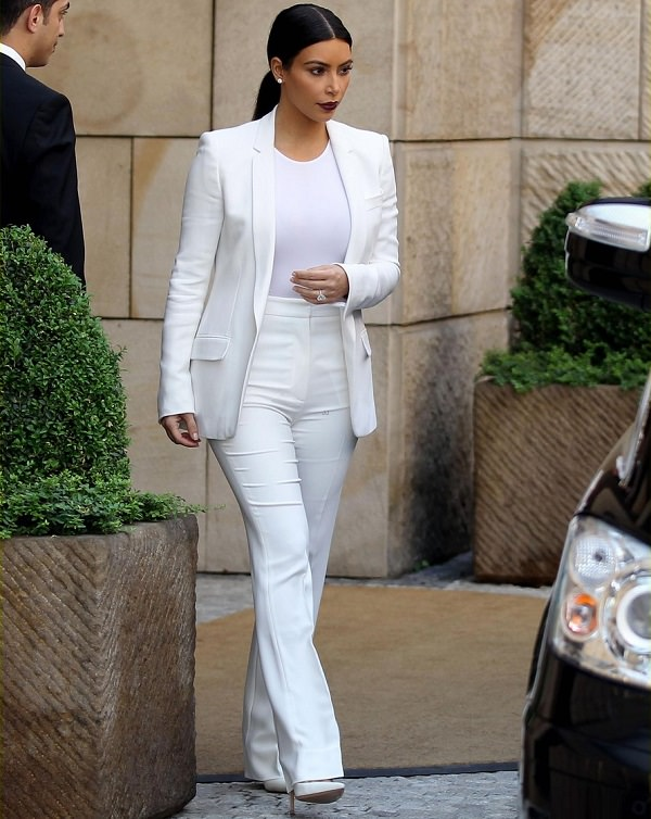 how to wear formal women's white bodysuit top for office