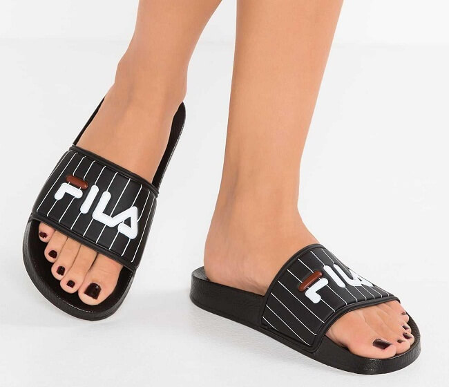 ladies flip flops with material toe post