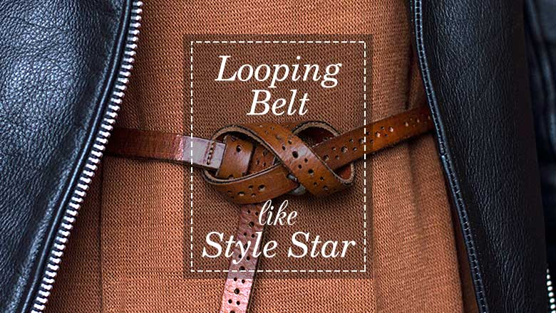 Belt Looping Styles, how to tie a belt knot fashion