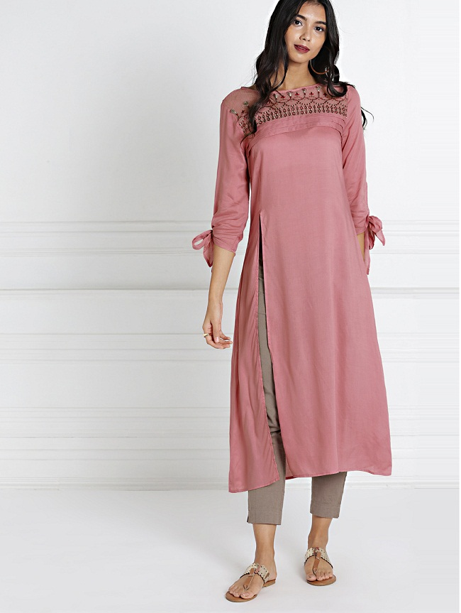 ce7edcde1 From casual wear to festive wear All About You offers you elegant designer  kurtis that is set to bring a wow factor.