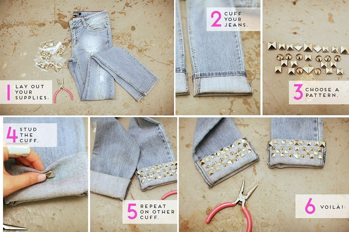 Add some Studs to the cuffs of your Pants