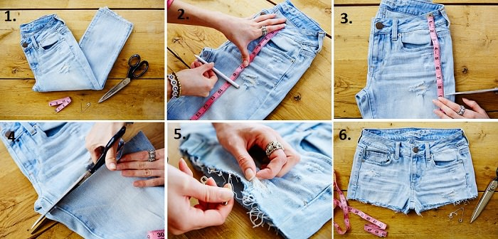 An old jeans to Super Trendy Shorts