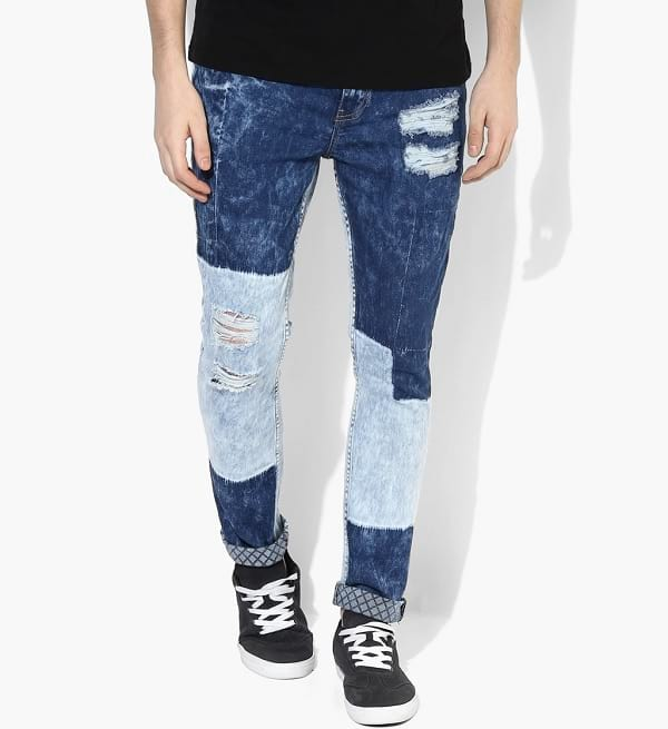 adamo light blue ripped washed mid rise jeans