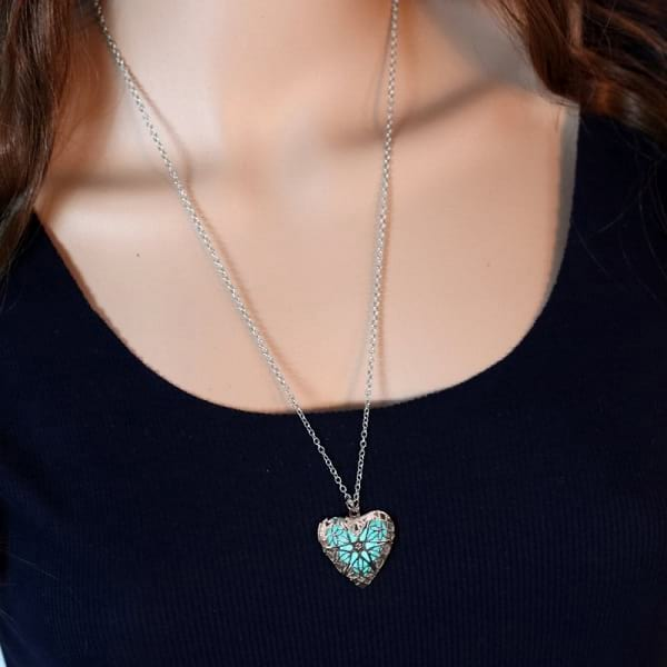 Glow in the Dark with Heart Shaped Pendant