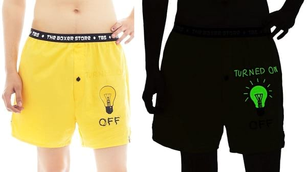 glow in the dark yellow boxer
