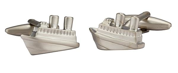 Knighthood Stainless Steel Cruise Ship Silver Cufflinks