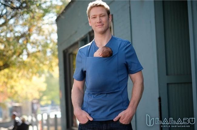 unbelievable pouch shirt for dads to carry new borns
