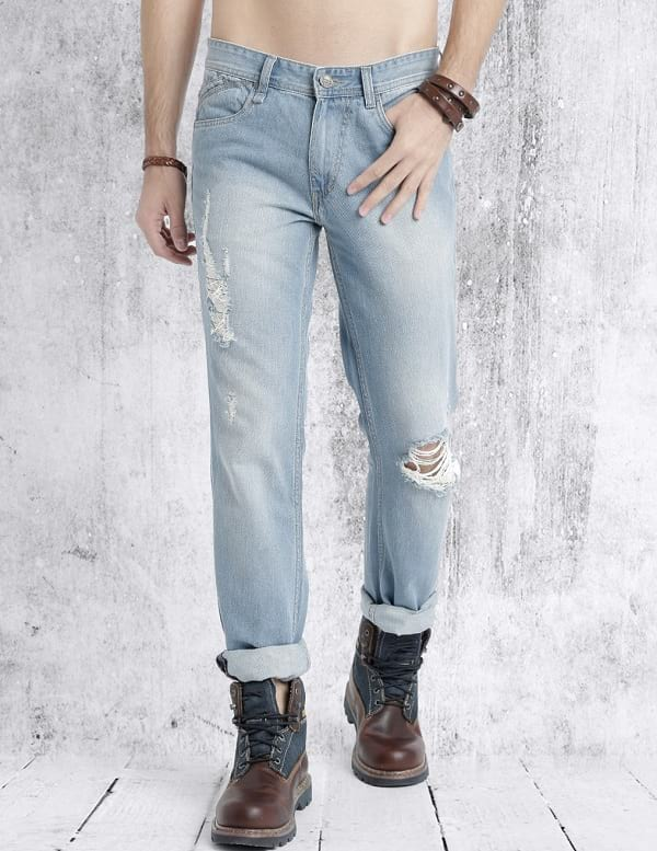 roadster light blue mid rise mildly distressed jeans