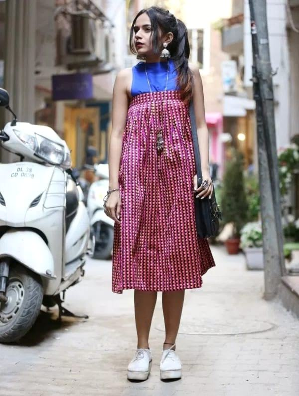 create the fusion like fashion pro by pairing skirt as dress