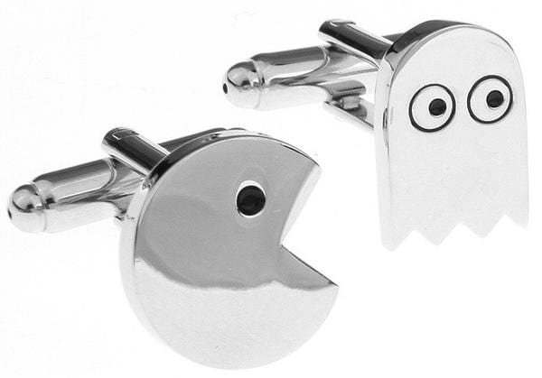 SS Silver Colored Greedy Snake Game Cufflinks