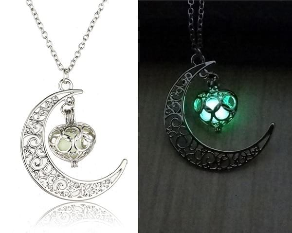 valentine's special glow in the dark pendent