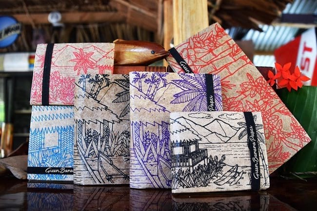 eco-friendly wallets that are made from banana plant fibers