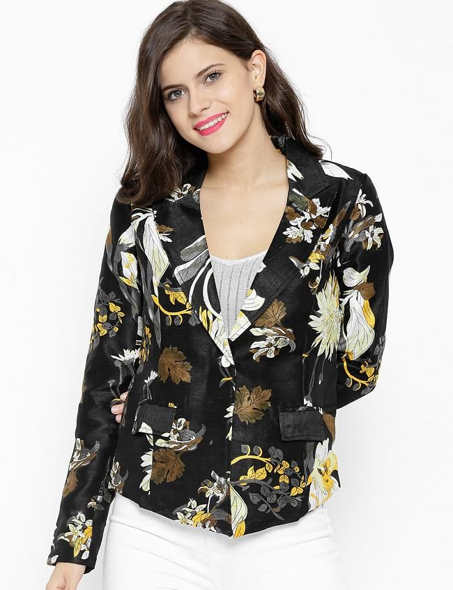 floral printed type blazer for women