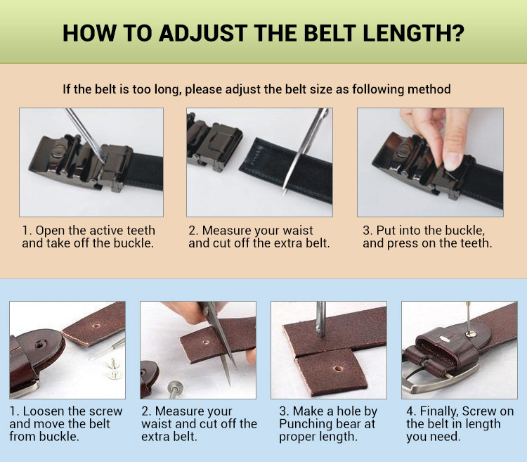 how to adjust right belt length