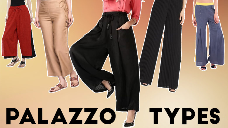 different Types of Palazzo Pants, palazzo pants cutting pattern images