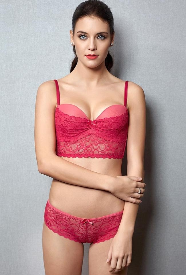 indian bridal bra and panty set for honeymoon
