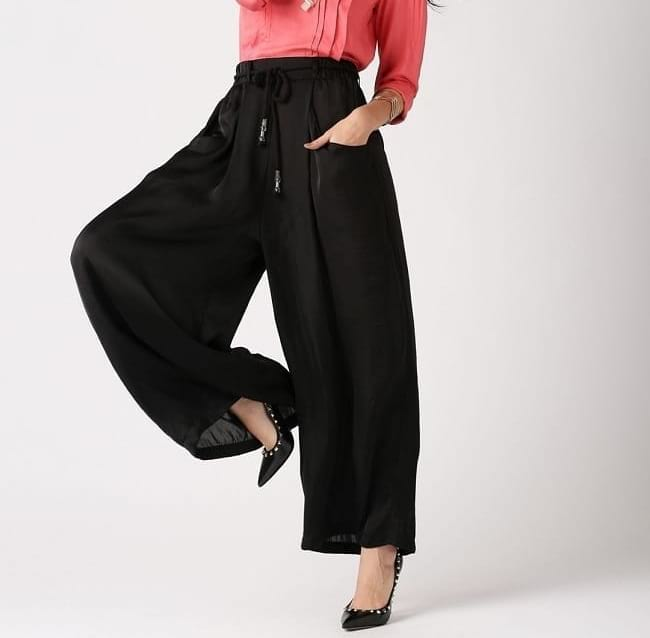different types of palazzo trousers for women, palazzo pant with pockets