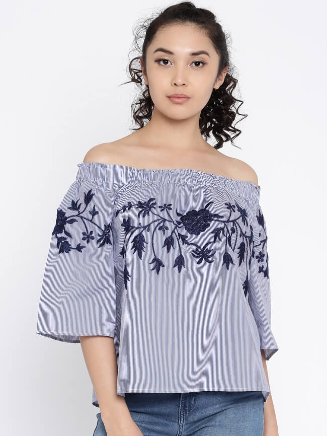 cotton long tops online shopping