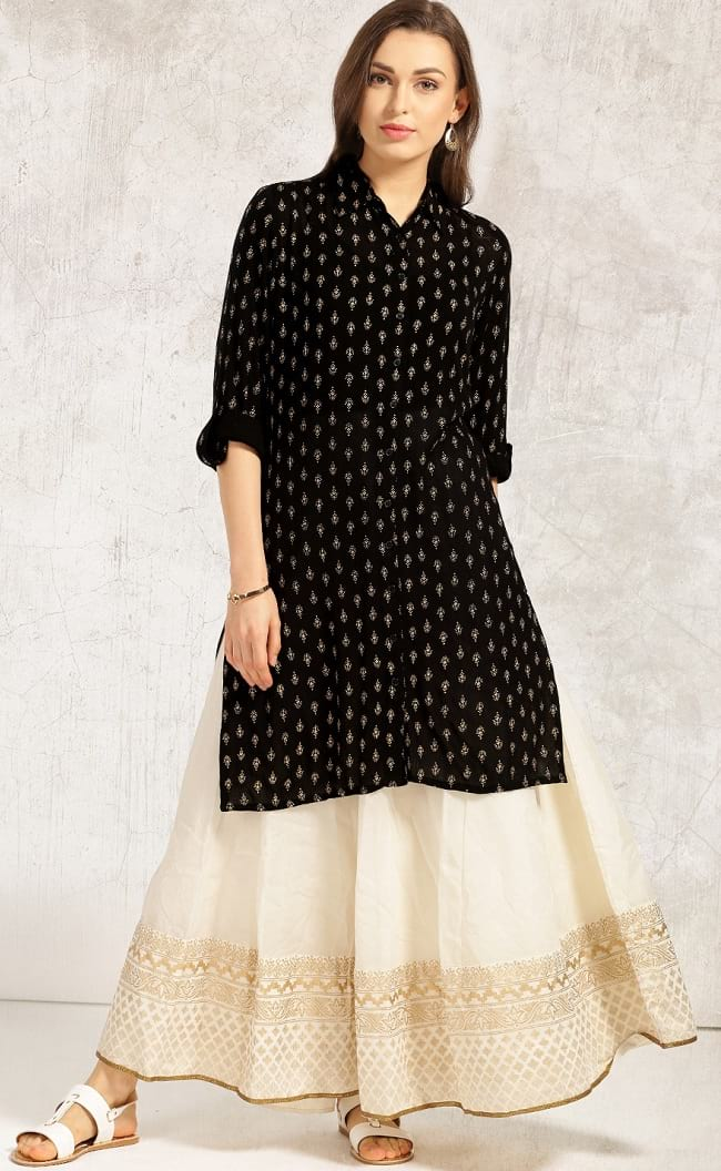 a35d7bfdff 20 Best Kurtas with Palazzo Looks that You Love To Buy - LooksGud.in