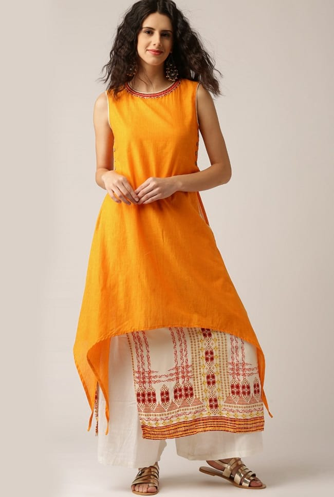 3742797d9 20 Best Kurtas with Palazzo Looks that You Love To Buy - LooksGud.in