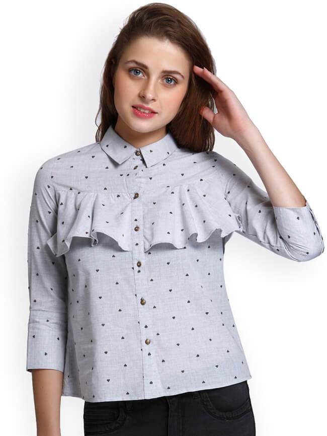 cotton Printed ladies shirts