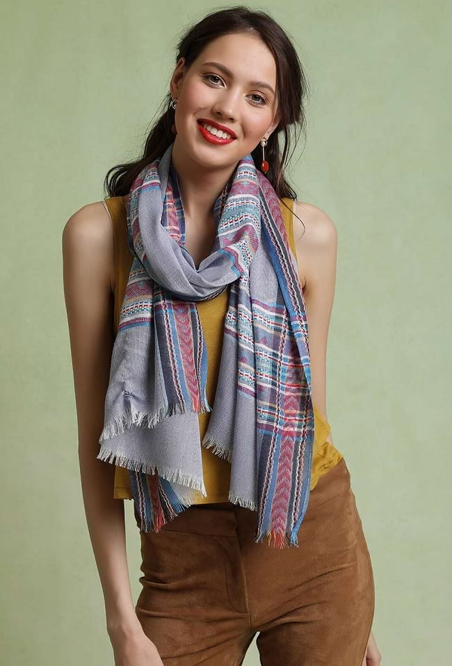simple rules to wear scarf styles step by step