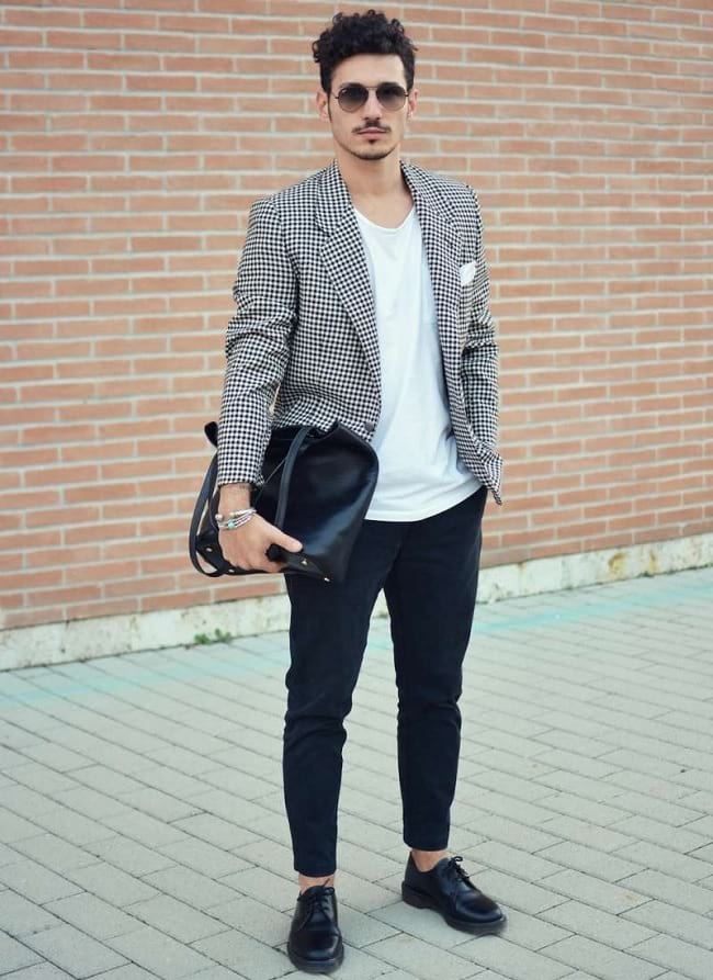 wearing white t-shirts everyday in style for men, casual blazer for men