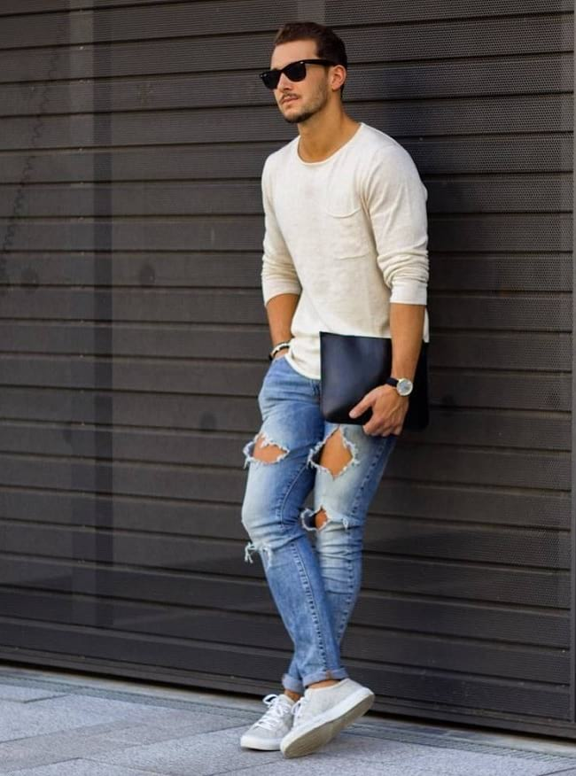 white t-shirt styles guide, men's street style clothing