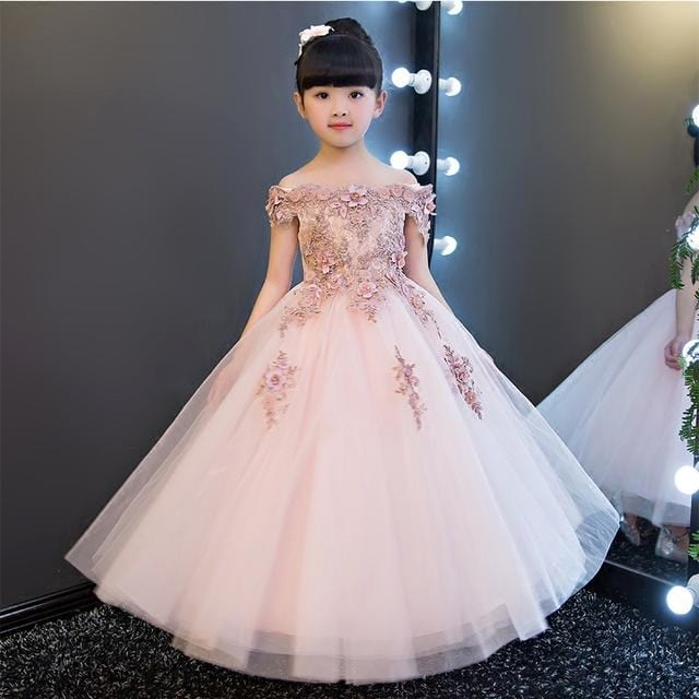 little girls party wear dresses and frocks in india, princess line wedding dress